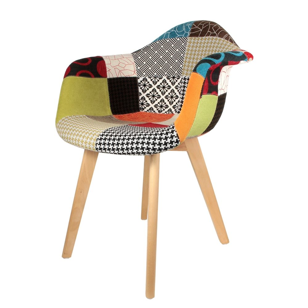 fauteuil scandinave patchwork. Black Bedroom Furniture Sets. Home Design Ideas