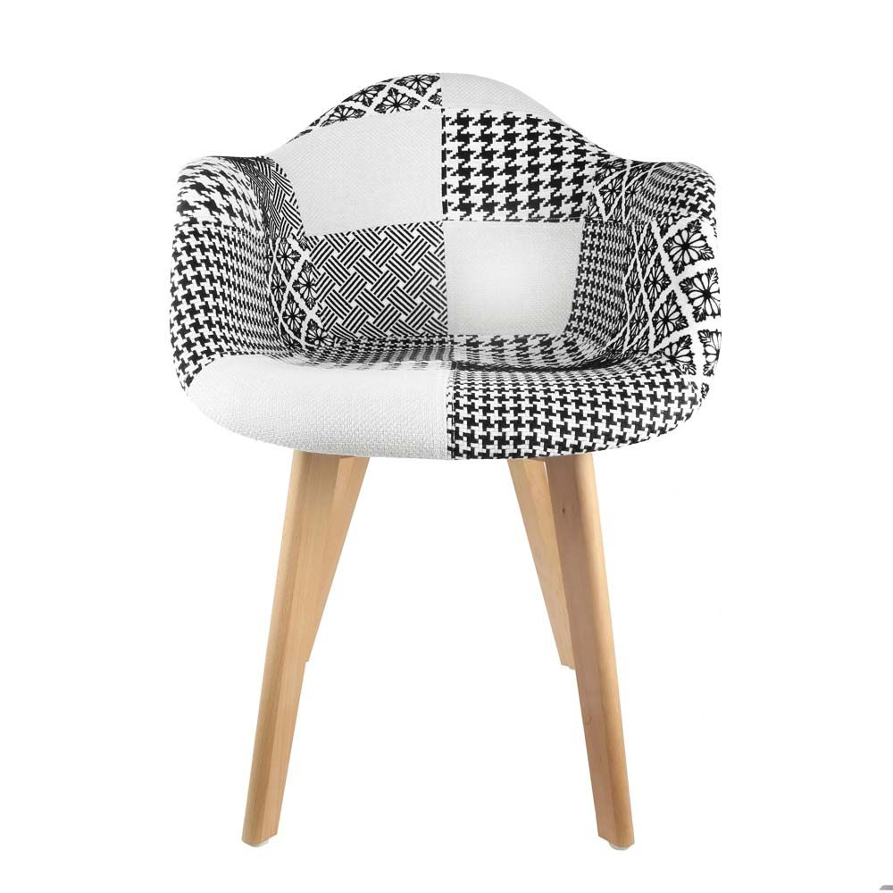 Fauteuil scandinave Patchwork by The concept factory