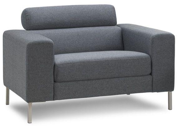 Fauteuil en tissu gris confort