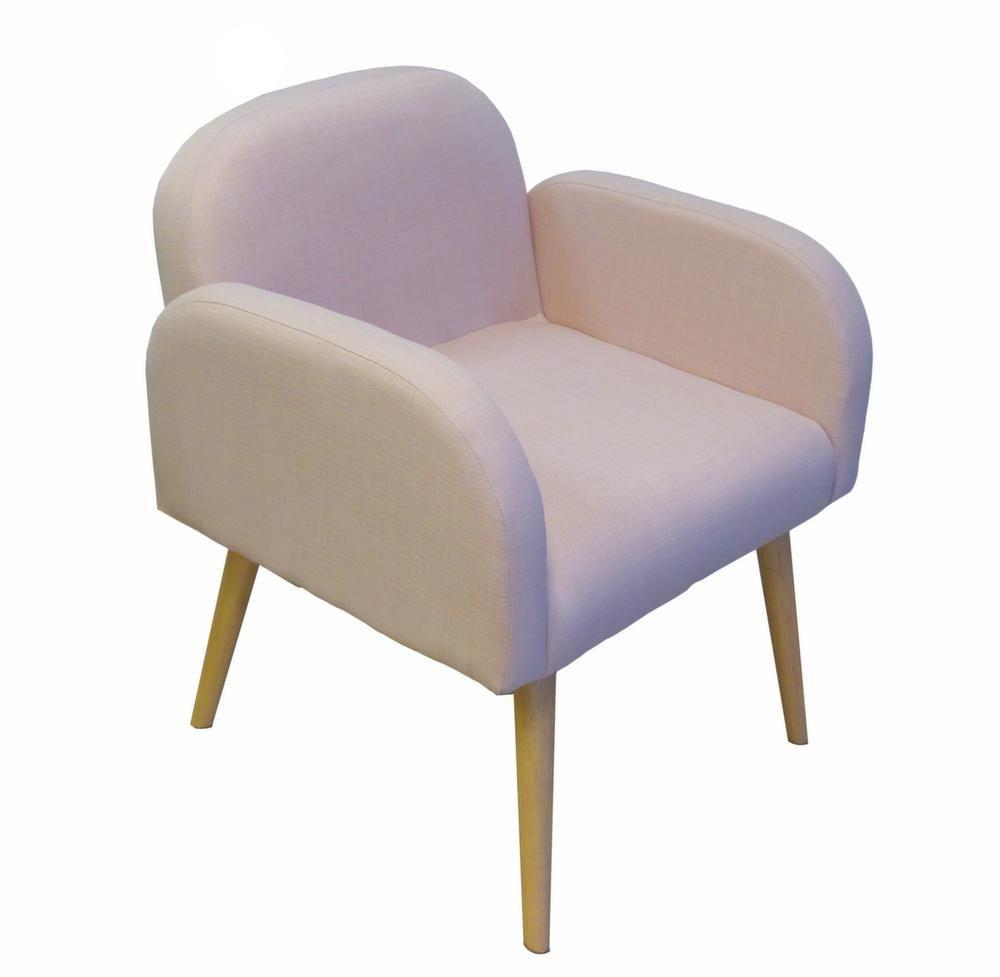 fauteuil en toile effet lin oslo. Black Bedroom Furniture Sets. Home Design Ideas
