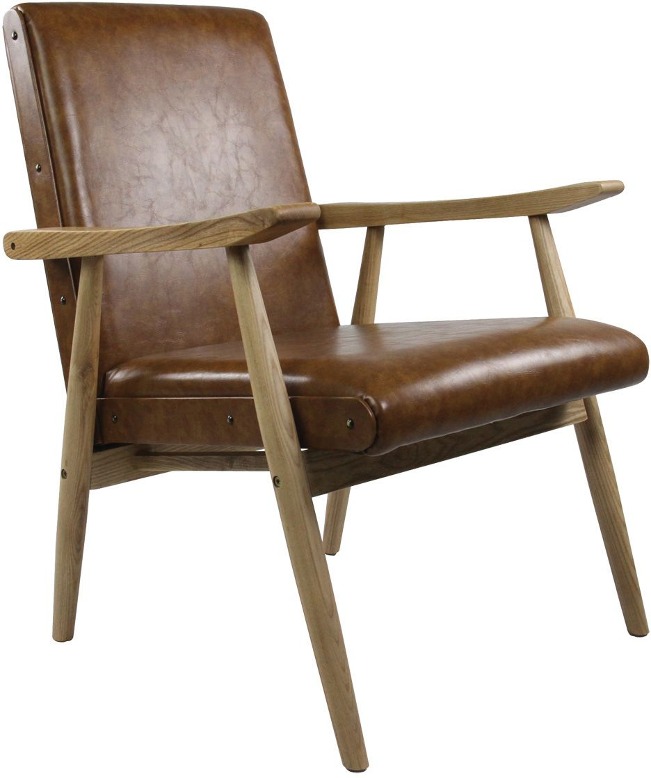 image_Fauteuil vintage aspect cuir Alfred