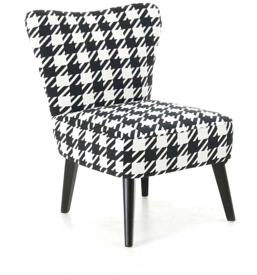 fauteuil vintage motif pieds de poule verona. Black Bedroom Furniture Sets. Home Design Ideas