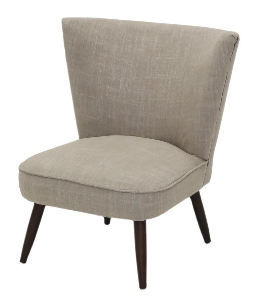 fauteuil vintage en tissu iseult taupe. Black Bedroom Furniture Sets. Home Design Ideas