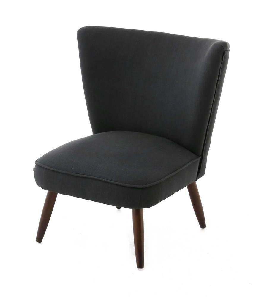 fauteuil vintage en tissu iseult noir. Black Bedroom Furniture Sets. Home Design Ideas