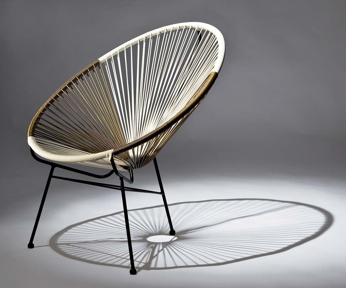 fauteuils design en fil d 39 acier ovaly lot de 2. Black Bedroom Furniture Sets. Home Design Ideas