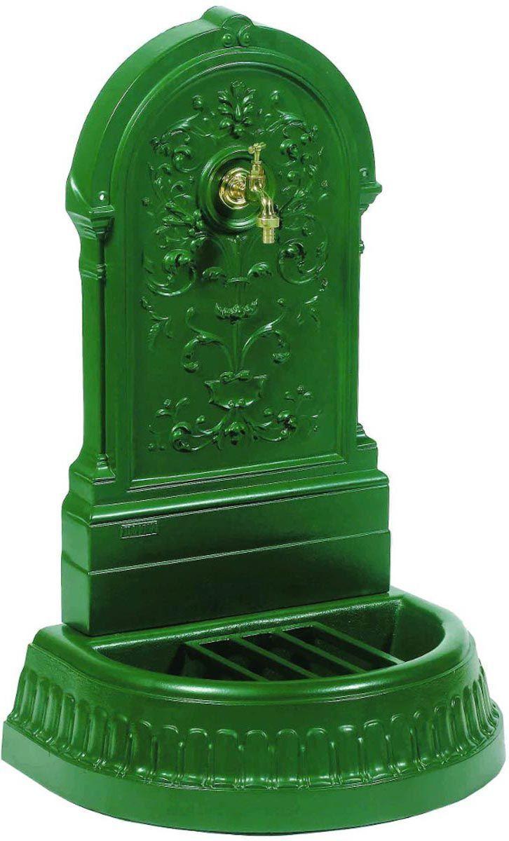 fontaine murale de jardin floraison vert anglais. Black Bedroom Furniture Sets. Home Design Ideas