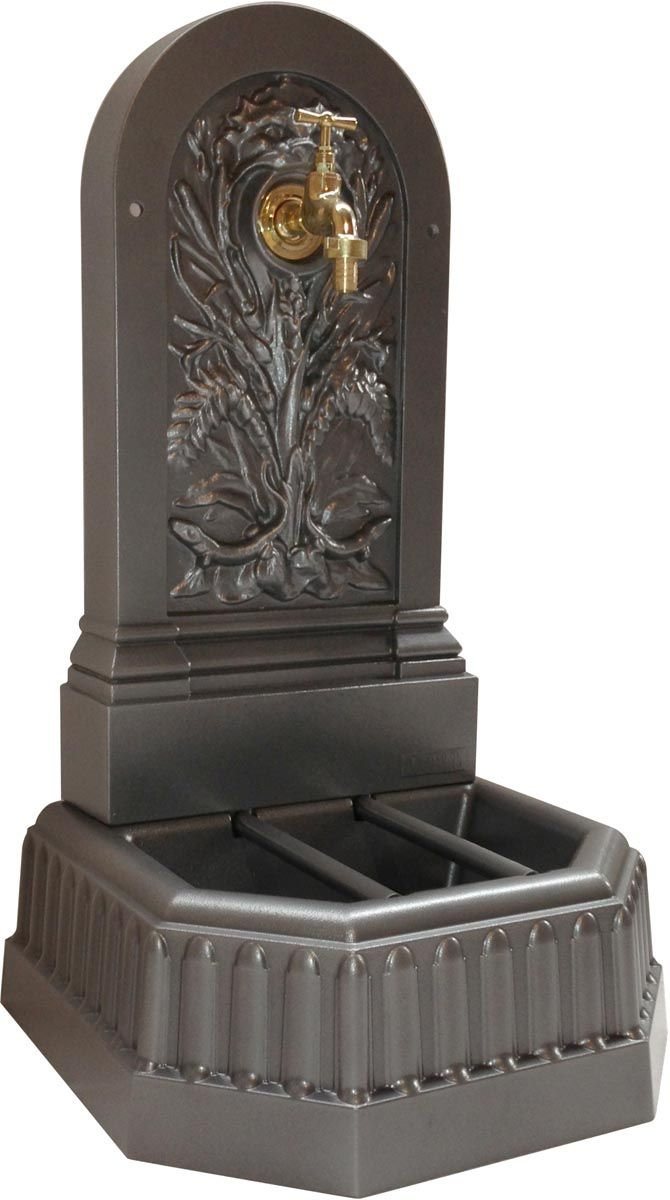 fontaine murale de jardin triton gris. Black Bedroom Furniture Sets. Home Design Ideas