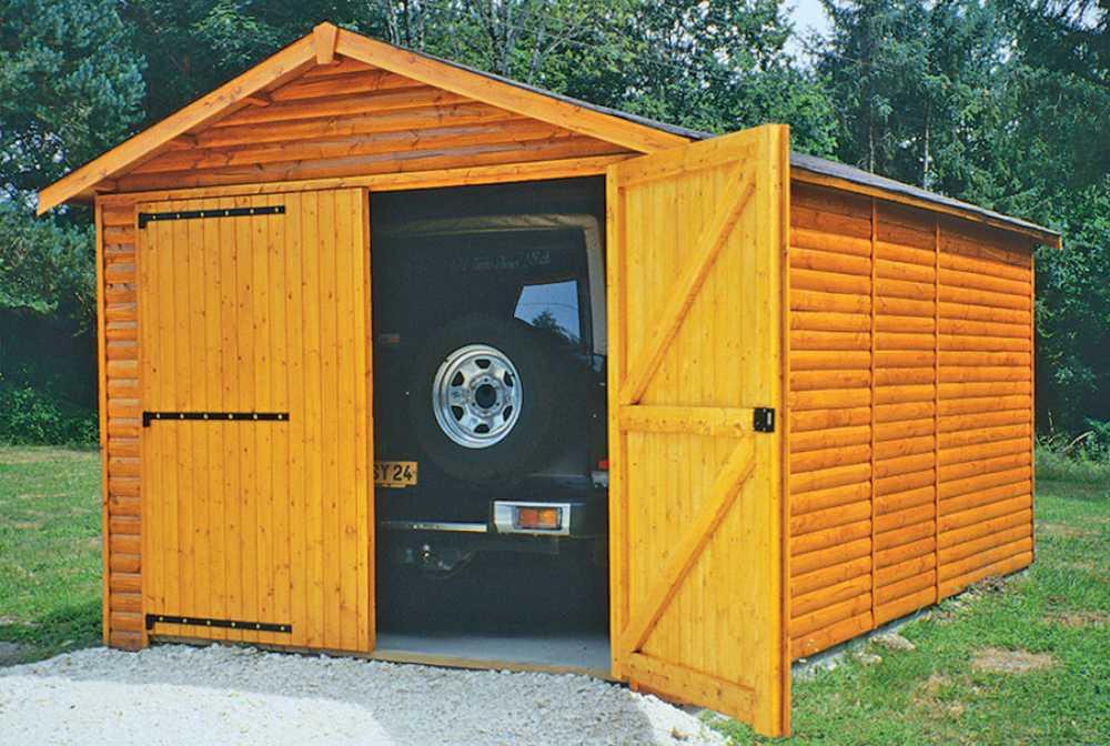 Garage 12m�  avec couverture onduline