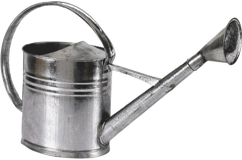 Arrosoir en zinc 8 litres 26x20x27-36cm