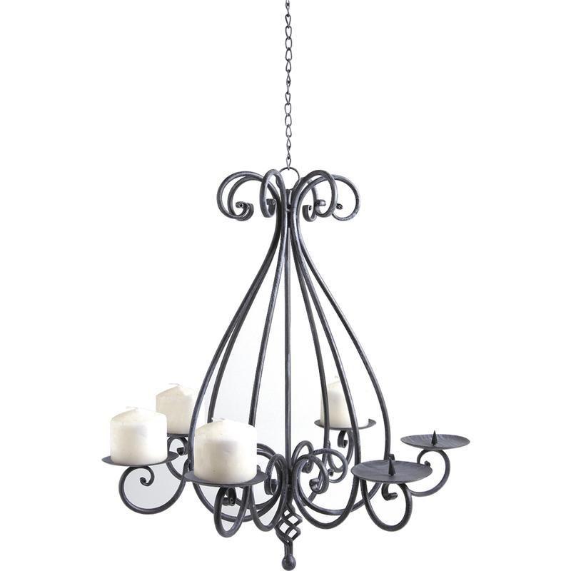 Lustre chandelier 6 bougies suspension aubry gaspard sur - Lustre pampille maison du monde ...