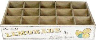 Caisse de rangement lemonade 15 bouteilles en bois 44x27x8cm