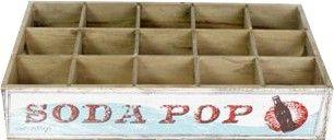 Caisse de rangement bouteilles soda