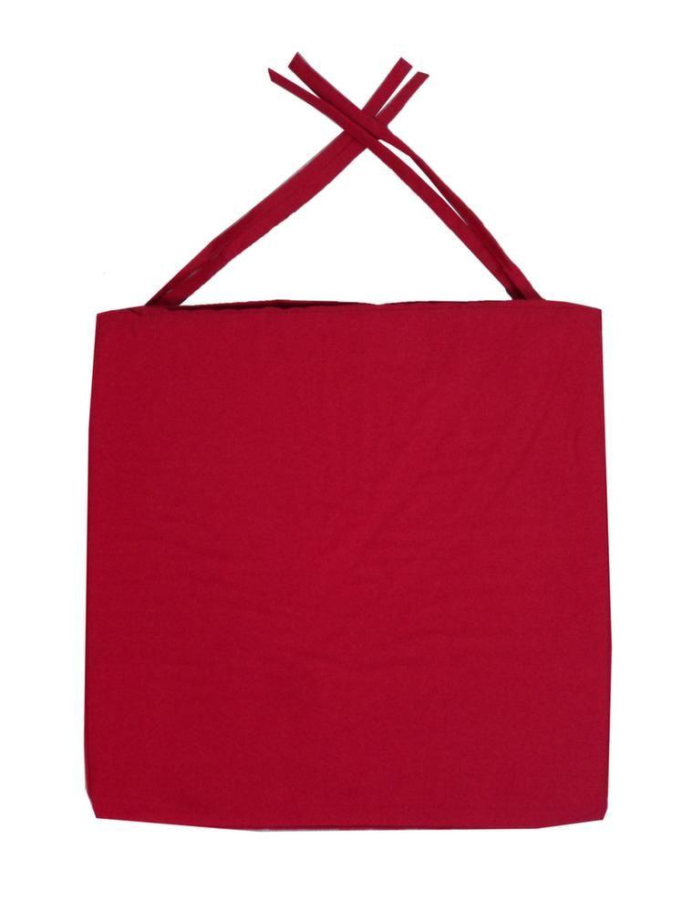 galette de chaise en coton 40 cm rouge. Black Bedroom Furniture Sets. Home Design Ideas