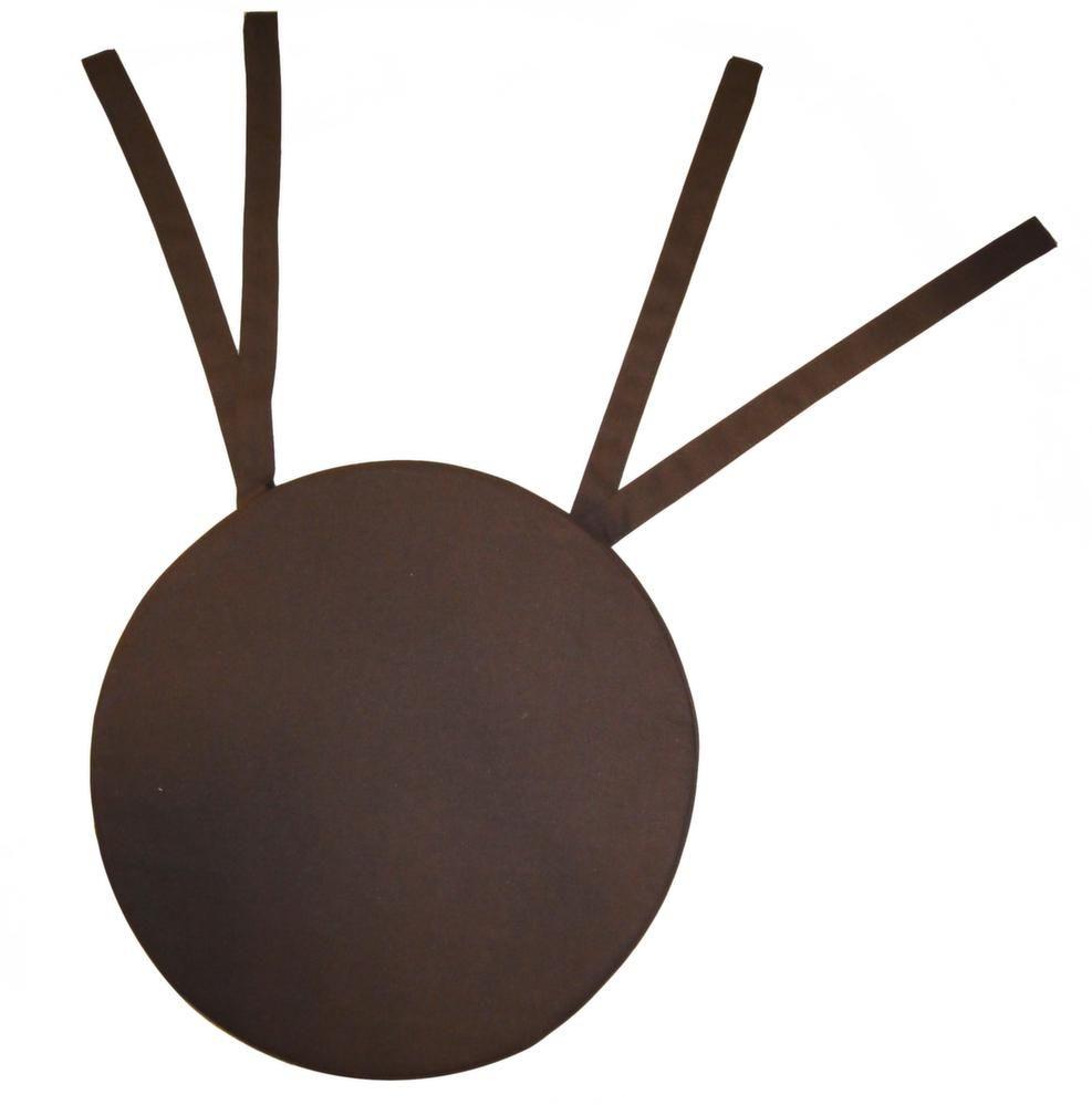Galette de chaise ronde en coton 5 cm (Chocolat)