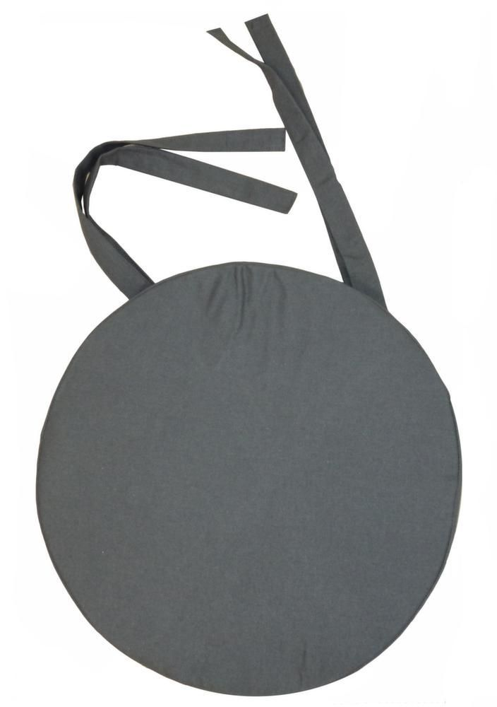 galette de chaise ronde en coton 40 cm gris. Black Bedroom Furniture Sets. Home Design Ideas