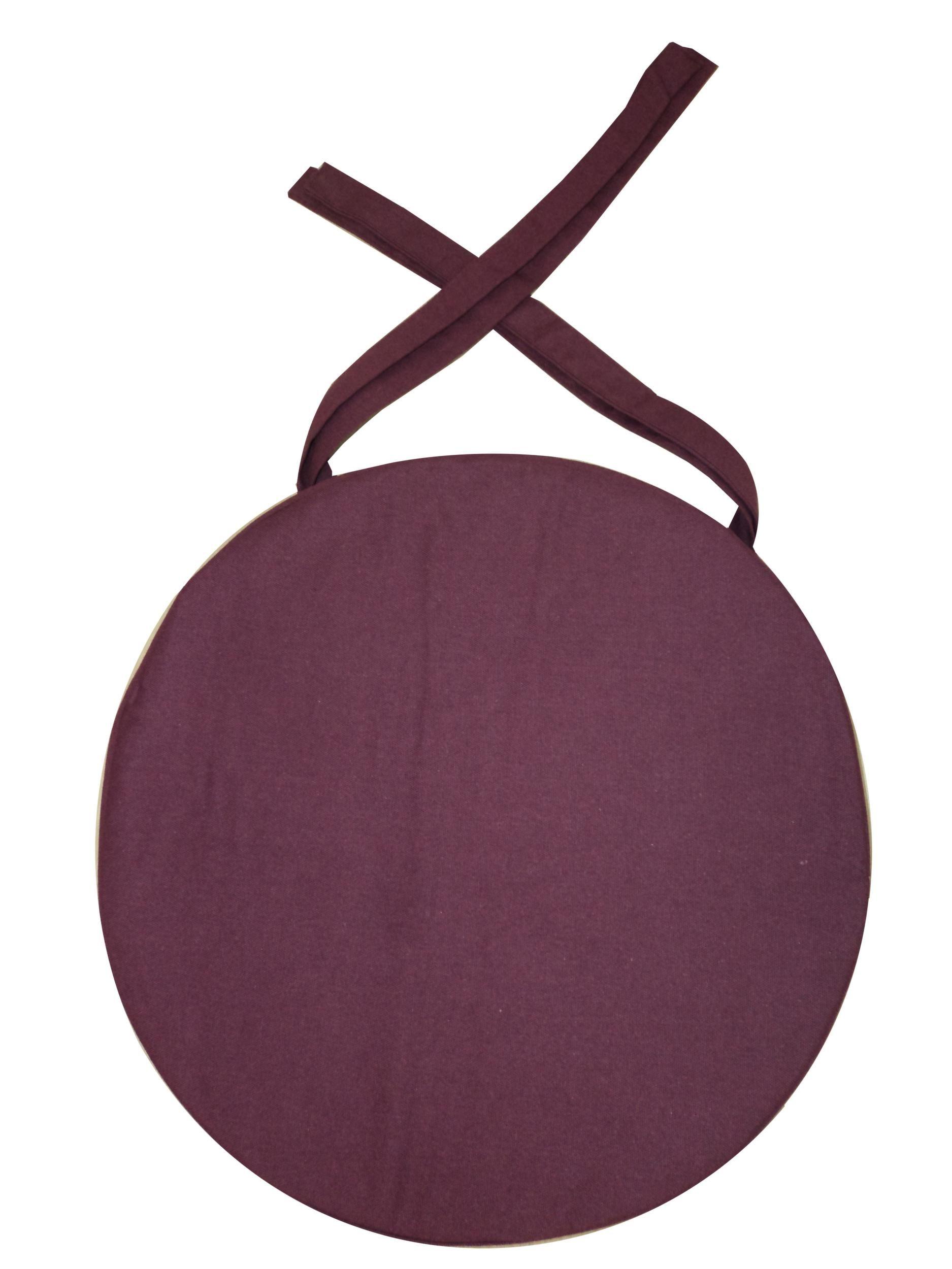 Galette de chaise ronde en coton 40 cm lot de 6 for Galette ronde de chaise