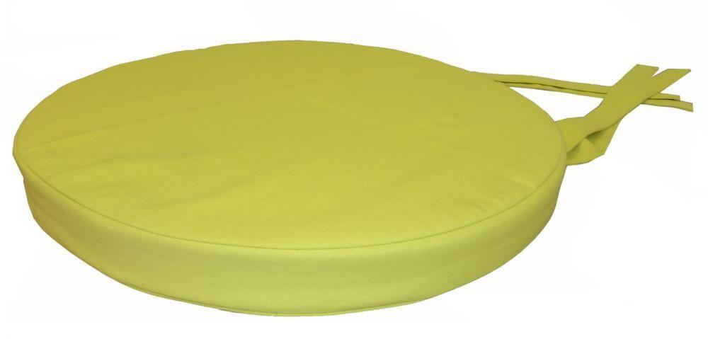 Galette de chaise ronde en coton 40 cm vert anis - Galettes de chaises rondes ...