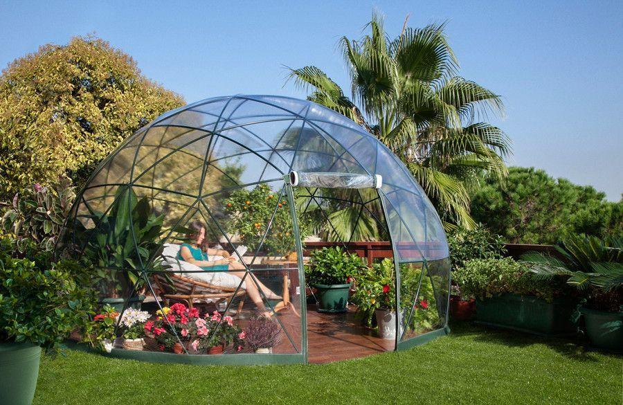 Igloo de jardin d�me 4 saisons 3,60x2,20m