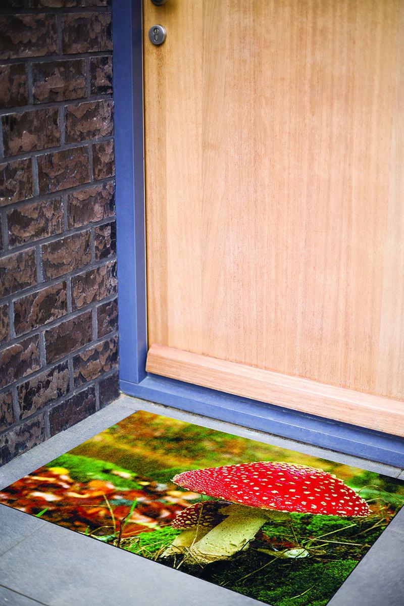 grand paillasson d co avec motif champignon. Black Bedroom Furniture Sets. Home Design Ideas