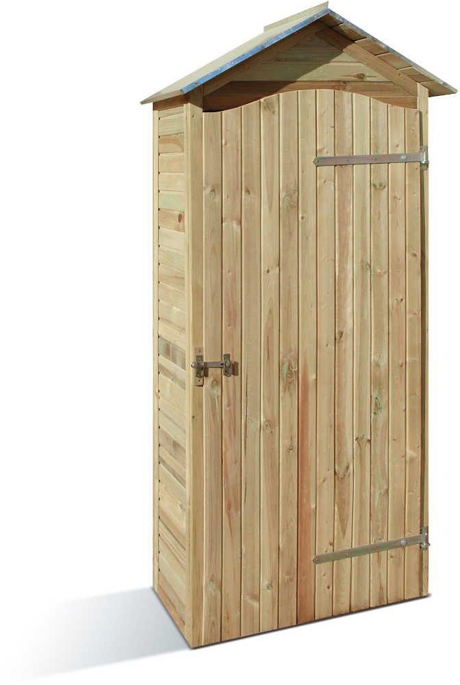 Grande armoire de jardin en pin