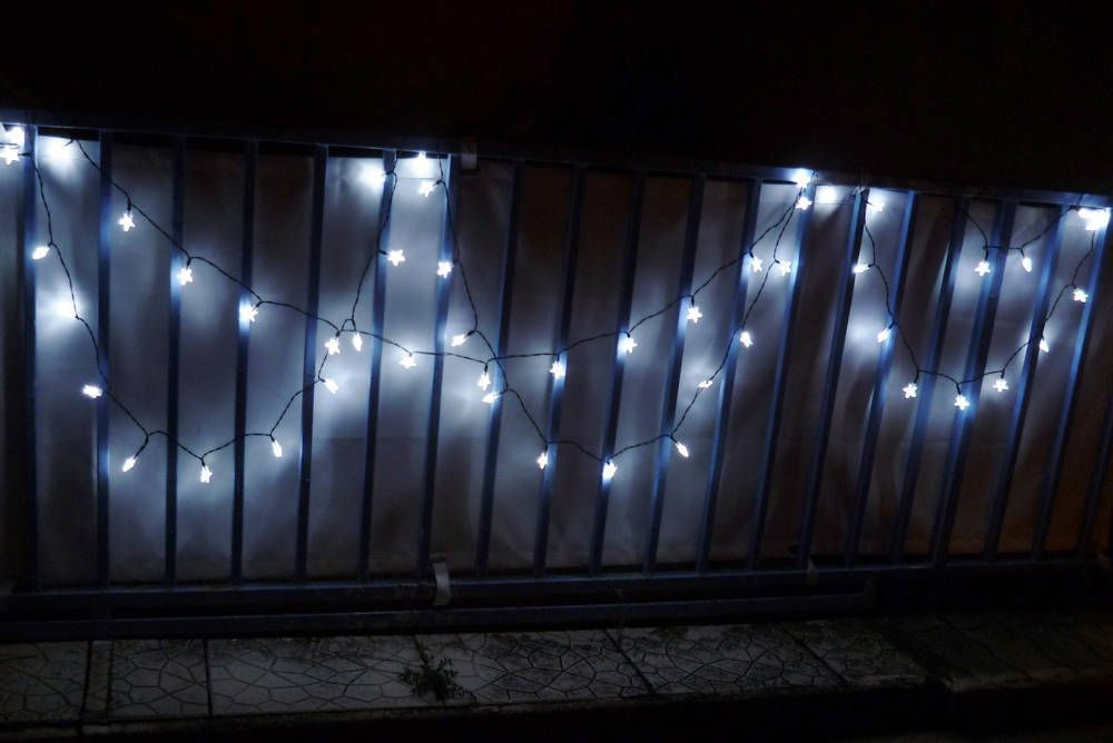 Guirlande solaire Etoiles blanches 50 Leds 9,3m