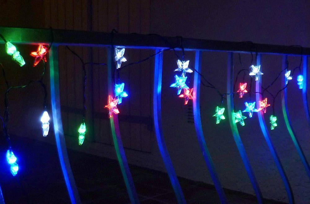 Guirlande solaire Etoiles multicolores 20 Leds 5,8m by Feerie solaire
