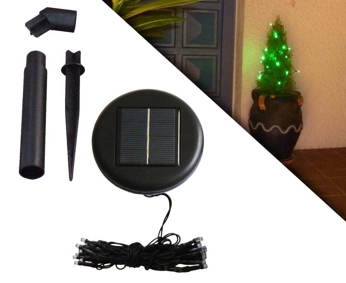 guirlande solaire 20 leds vert. Black Bedroom Furniture Sets. Home Design Ideas