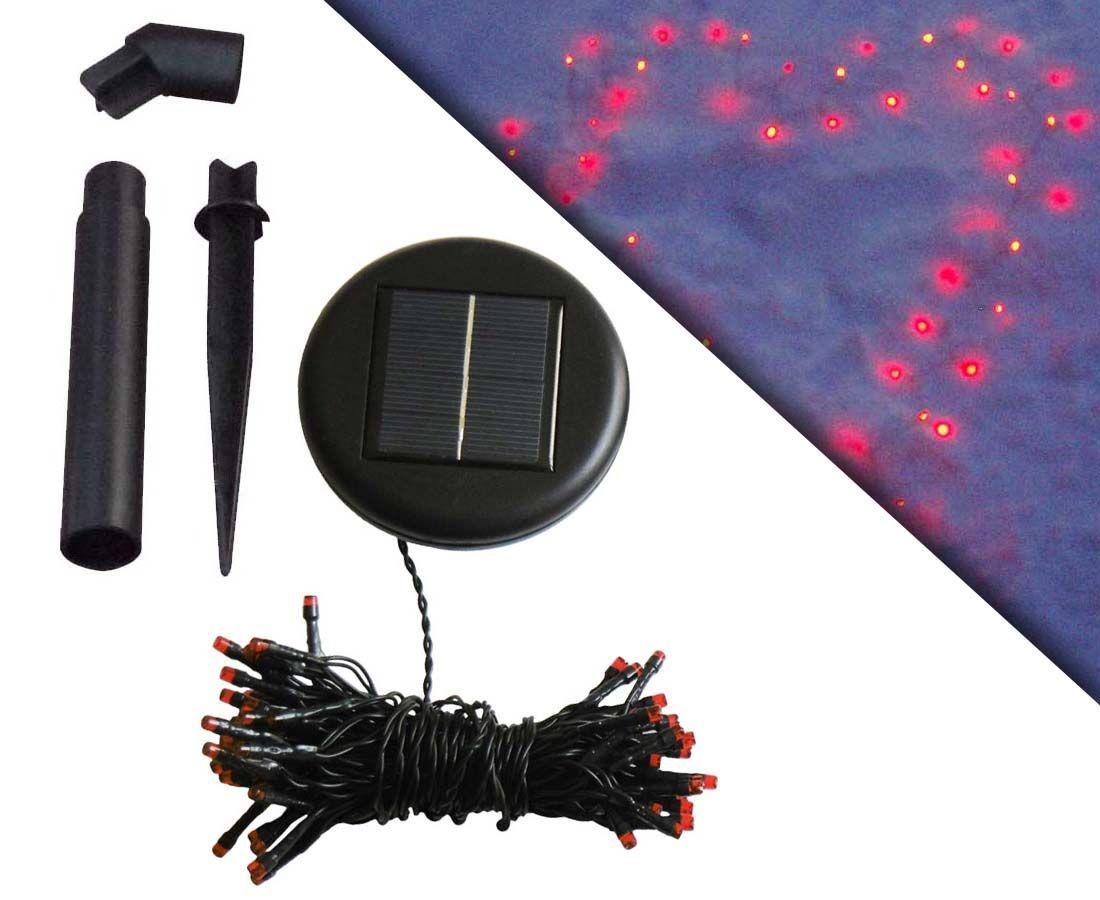 guirlande solaire 60 leds rouges clignotements 7m. Black Bedroom Furniture Sets. Home Design Ideas