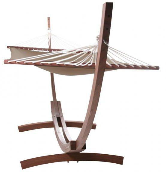 hamac slappe en bois d 39 eucalyptus et toile coton. Black Bedroom Furniture Sets. Home Design Ideas