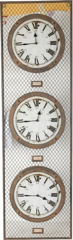 Horloge London Paris New York sur Jardindeco