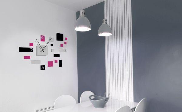 pendule murale design inox ordinary pendule murale design. Black Bedroom Furniture Sets. Home Design Ideas