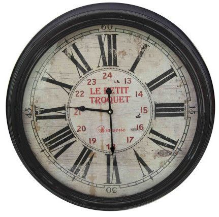 Horloge bistrot Le petit troquet 62cm by Antic line créations
