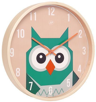 horloge en bois hibou 30cm. Black Bedroom Furniture Sets. Home Design Ideas