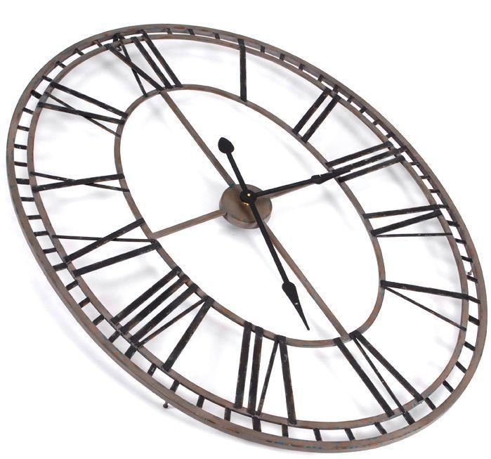 horloge chiffres romains ovale. Black Bedroom Furniture Sets. Home Design Ideas