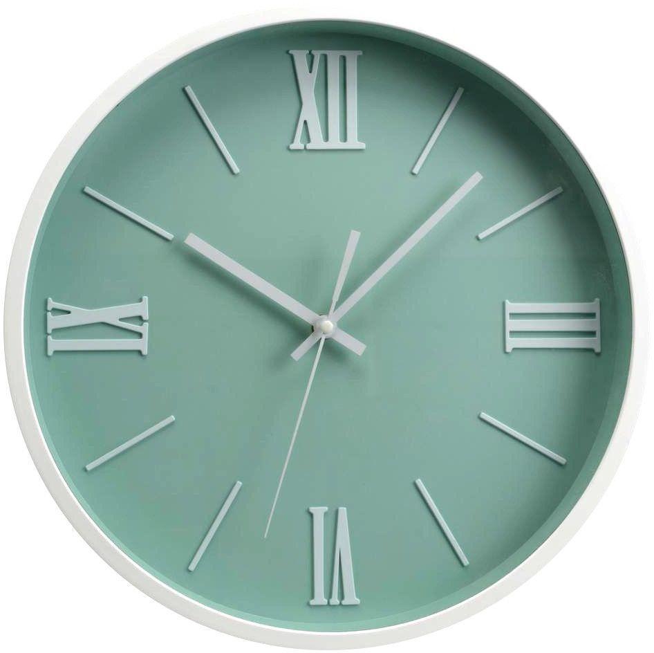 horloge moderne vert d 39 eau 36cm. Black Bedroom Furniture Sets. Home Design Ideas