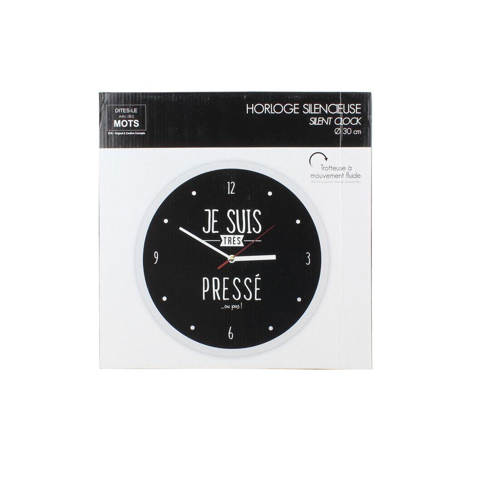 Horloge moderne 30 cm je suis...