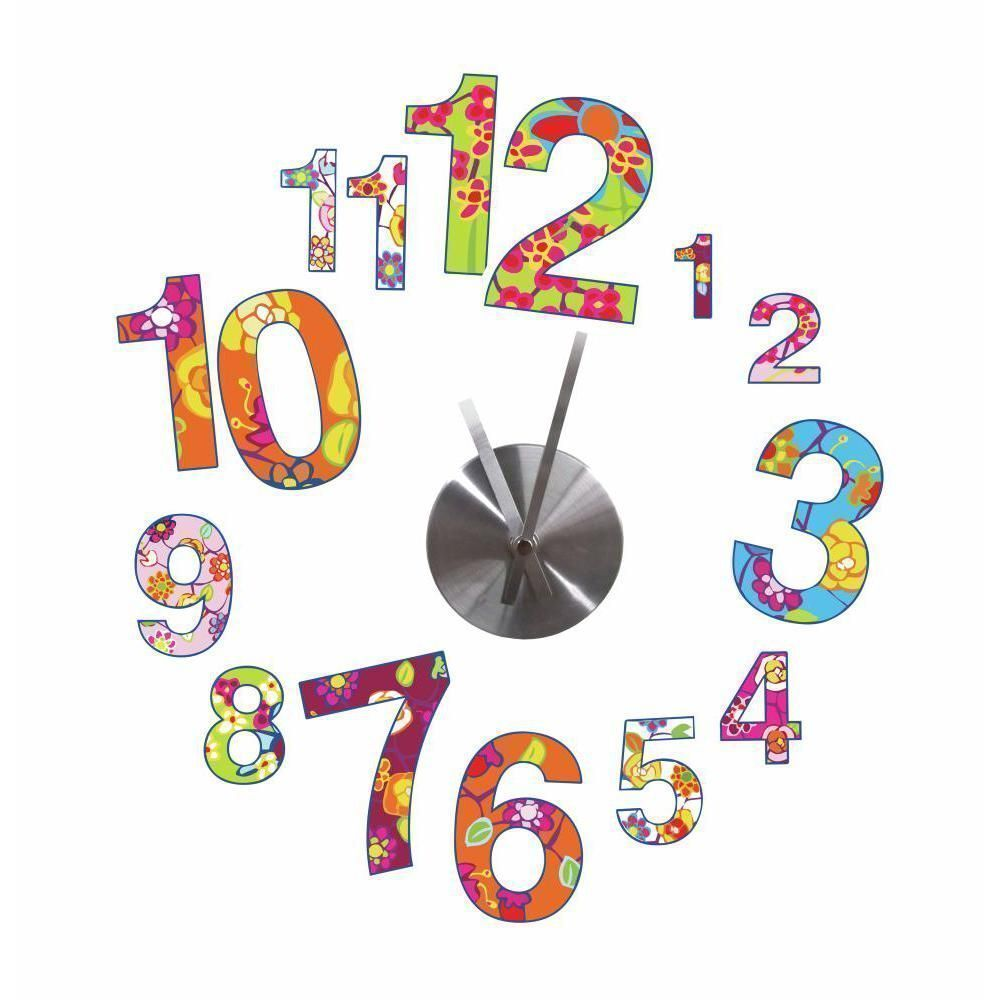 image_Horloge originale 15 Stickers Colorful