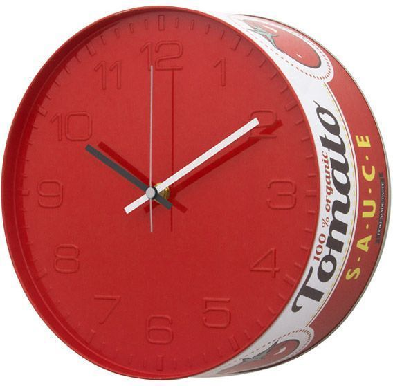 Horloge pop art Tomato Sauce by Balvi