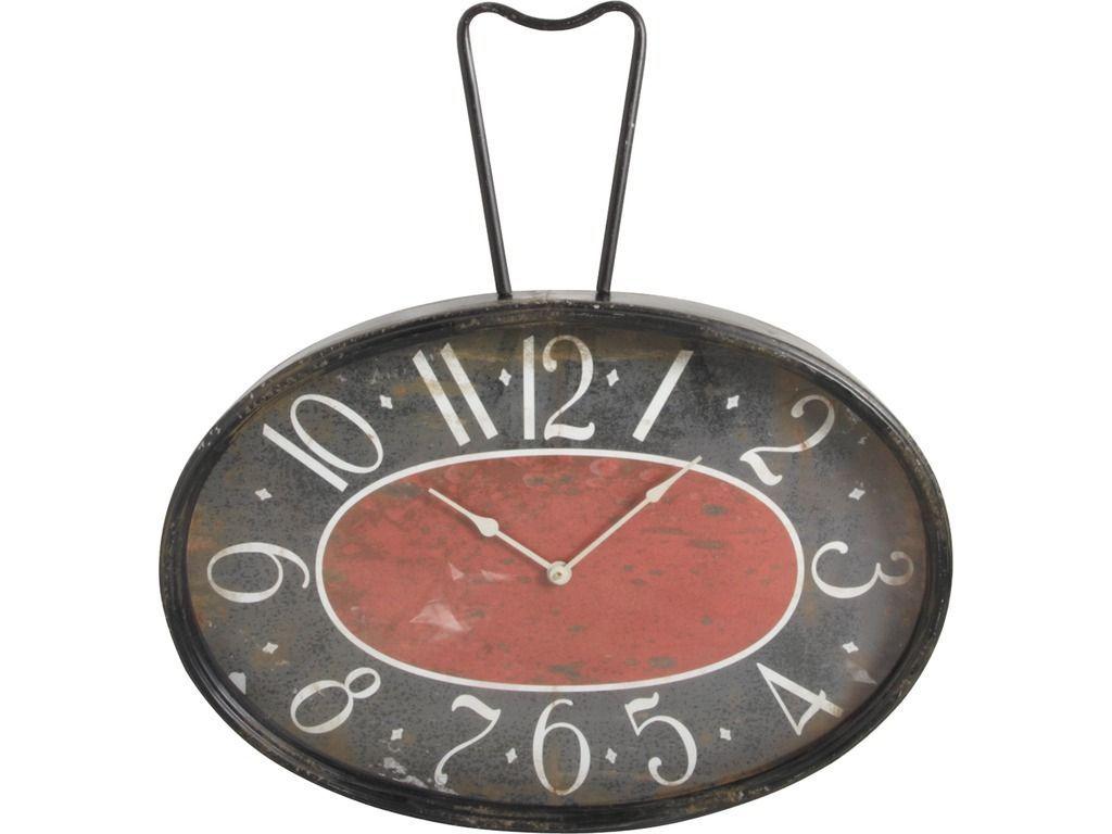 Horloge rétro en métal et verre