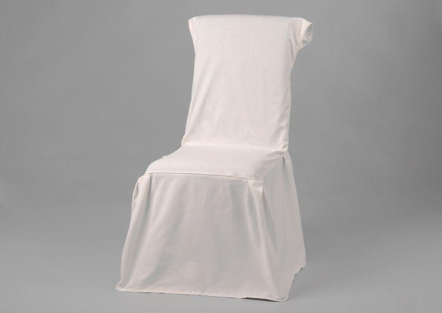 Housse de chaise coloris blanc - Housse de chaise blanc ...
