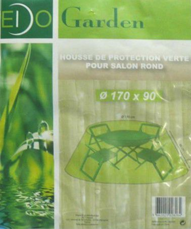 Housse de protection salon de jardin rond - Bache pour salon de jardin rond ...