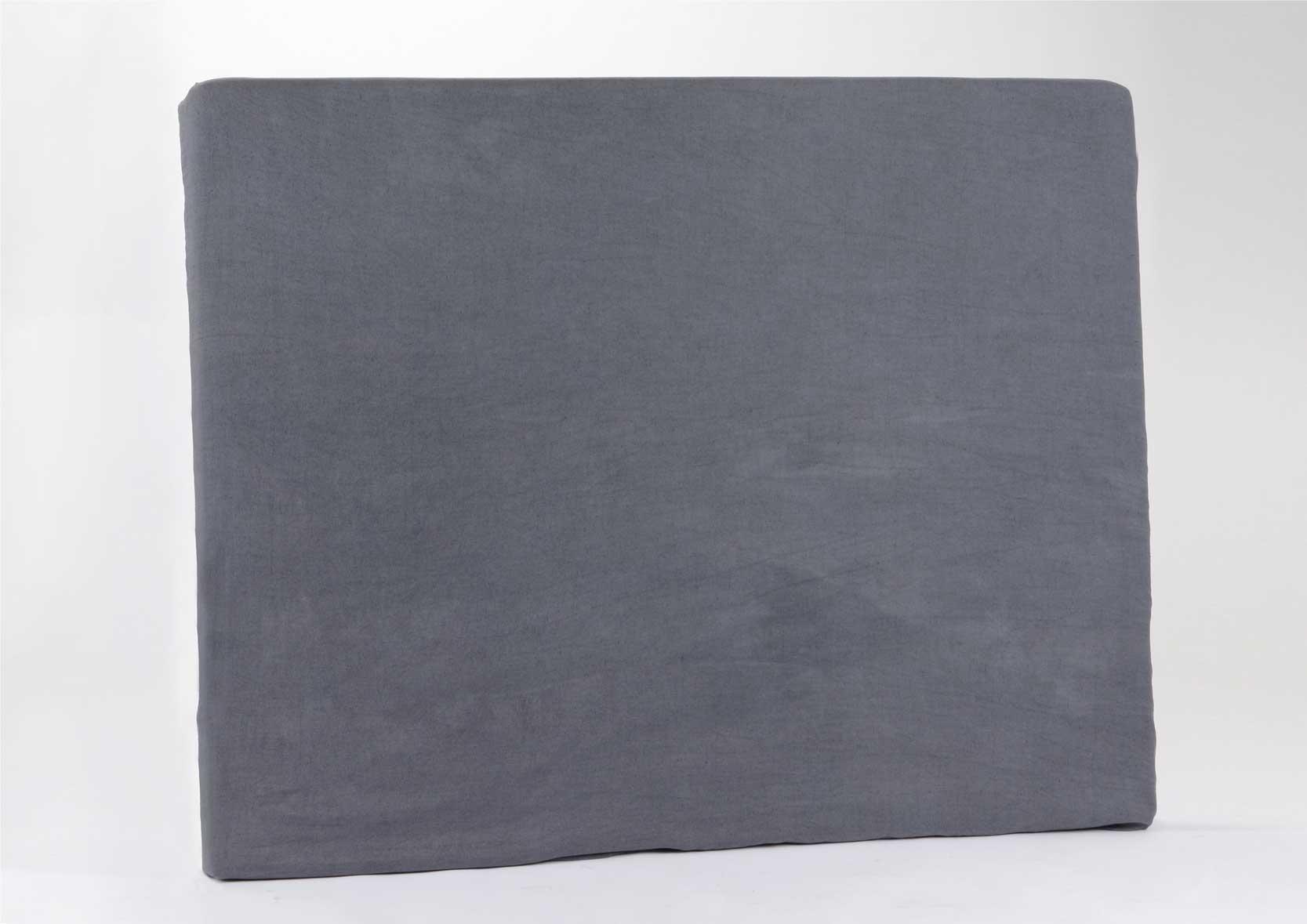 housse en lin et coton pour t te de lit anthracite anthracite. Black Bedroom Furniture Sets. Home Design Ideas