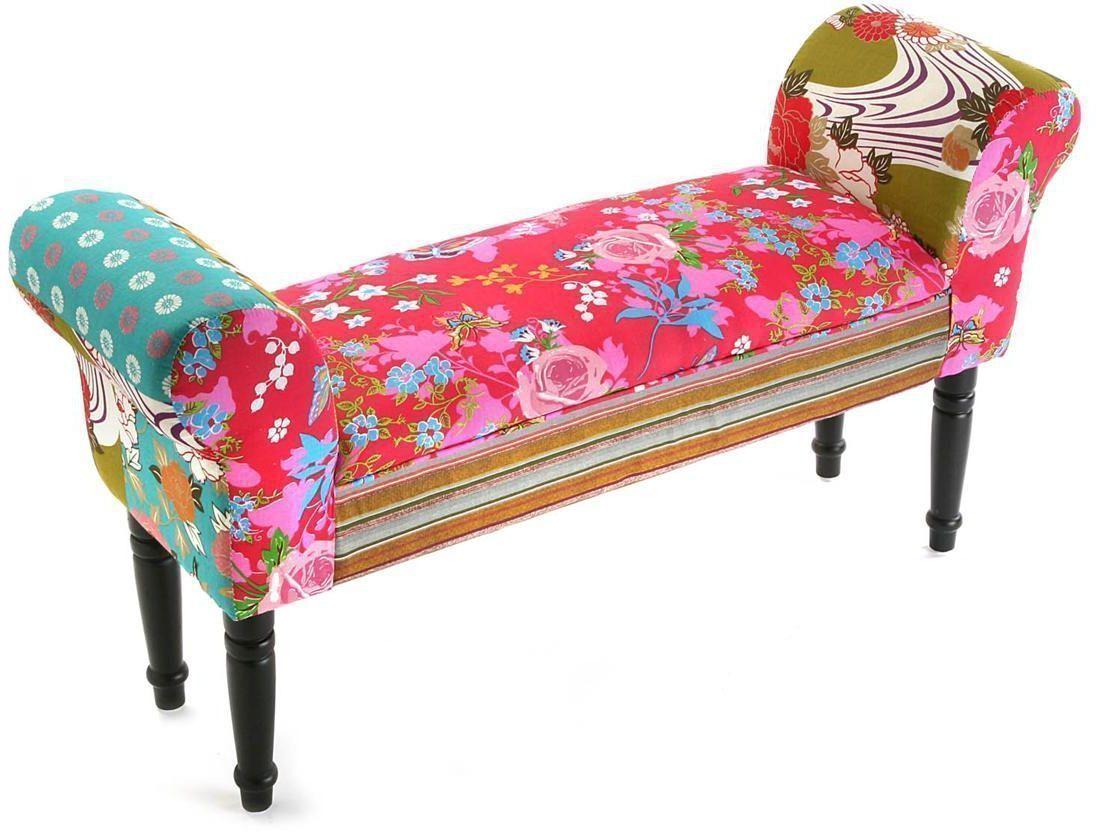 bout de lit avec accoudoirs patchwork accessoire versa. Black Bedroom Furniture Sets. Home Design Ideas
