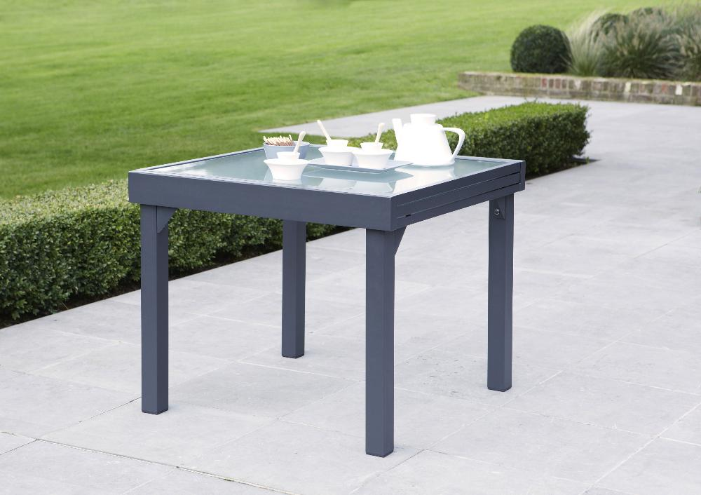 Table jardin modulo 90-180cm (gris)