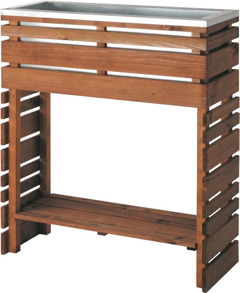 fabriquer une jardini re en bois sur pieds. Black Bedroom Furniture Sets. Home Design Ideas