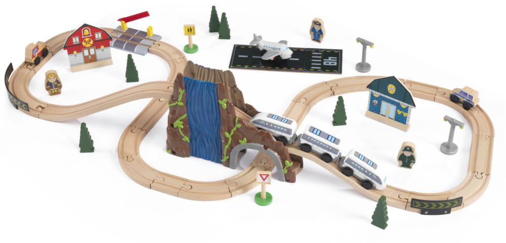 Jeu de construction train et circuit en bois by Kidkraft