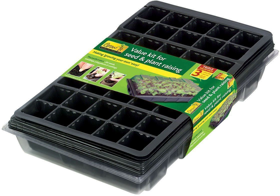 Kit semences faciles Grow it (Lot de 3) sur Jardindeco