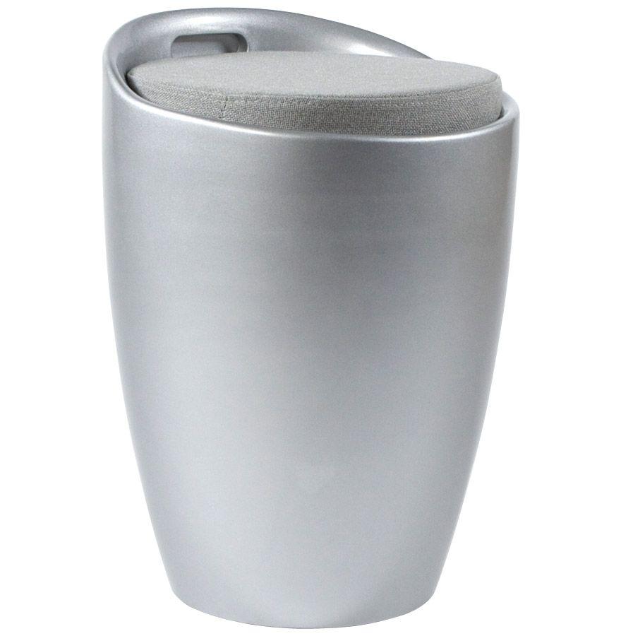 Tabouret pouf ese avec rangement for Comcoffre de salle de bain