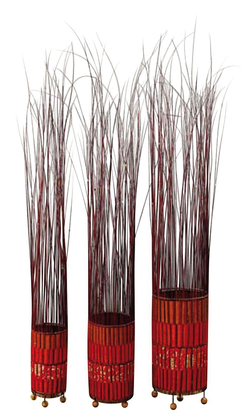 Lampe poser en acier bross for Bambou interieur deco