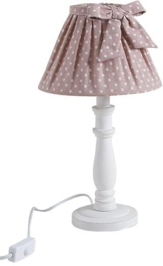 lampe de chevet shabby choc 40cm rose. Black Bedroom Furniture Sets. Home Design Ideas